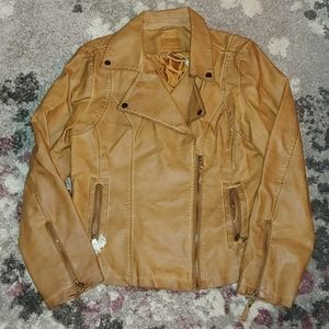 Max Studio Faux Leather Jacket - Size XL
